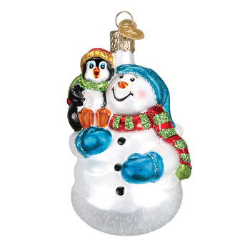 Snowman With Penguin Pal