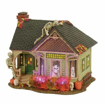Halloween Village - The Skeleton House