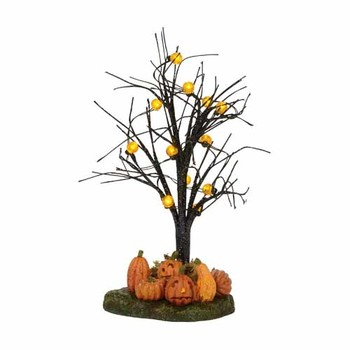 Halloween Village - Lit Jack-O-Lantern Tree