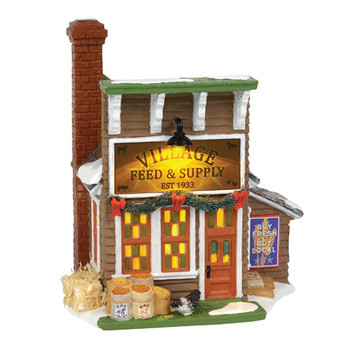 Original Snow Village - Village Feed & Supply