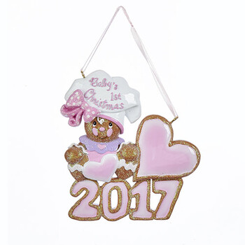 babys 1st christmas gingerbread girl ornament for personalization