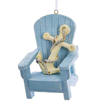 Adirondack Chair With Anchor Ornament For Personalization