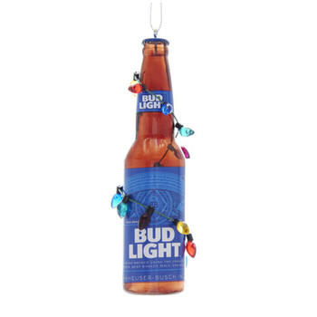 Budweiser(r) Bud Light Bottle With Christmas Bulbs Ornament