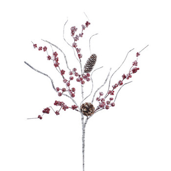 Birch Berry With Pinecone Branch