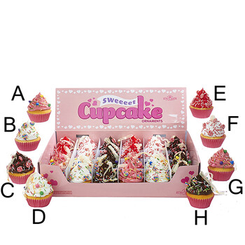 Cupcake With Candy Ornament