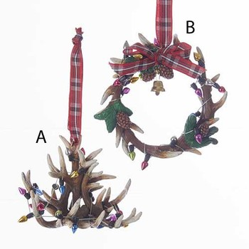 Antler Chandelier And Wreath Ornaments