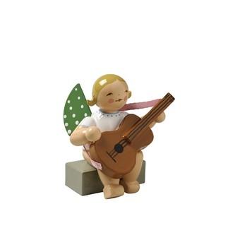 Wendt Und Kühn Tannenbaum.Angel With Guitar Sitting