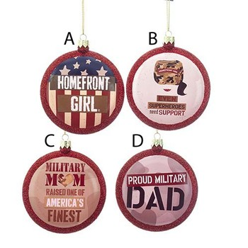 Homefront Girls(c) Military Disc Ornaments