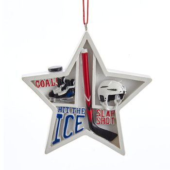 Hockey Star Shadow Box Ornament
