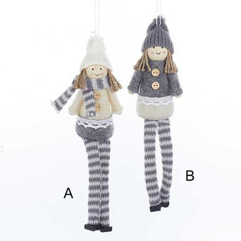 Fabric Girl Ornaments, 2 Assorted