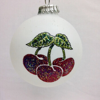 Cherry Ball Ornament