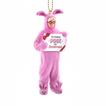 a christmas story bunny suit clip on