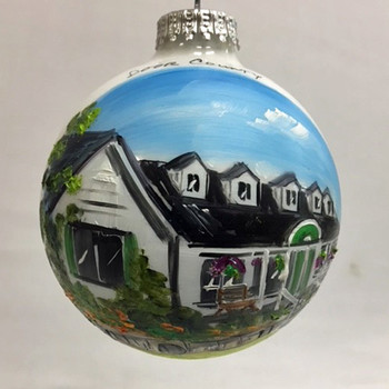 Door County Coffee and Tea Glass Ball Ornament