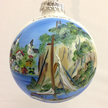 Ephraim, Wisconsin Glass Ball Ornament