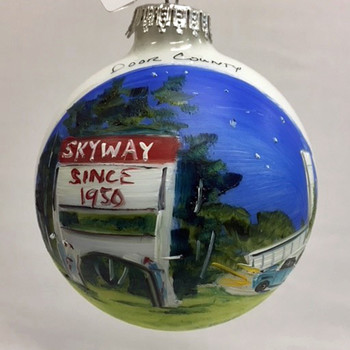 Skyway Drive-In Glass Ball Ornament