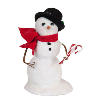 Snowman Small With Black Hat