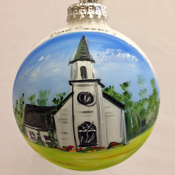 Tannenbaum Holiday Shop Glass Ball Ornament