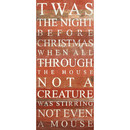 Twas The Night Before Christmas 12 X 24