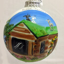 Al Johnson's Glass Ball Ornament