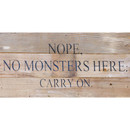 No Monsters Here Bd 14 X 6