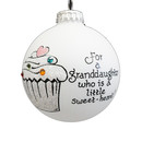 Grandaughter Cupcake Ornament