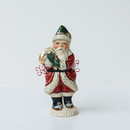 Candy Cane Santa With Gold Bag