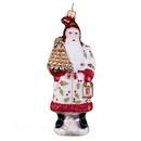 Santa With Gold Applecone Ornament