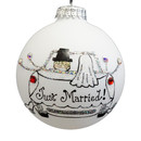 Just Married Car Ornament