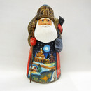 Russian Hand Carved Santas and Nesting Dolls