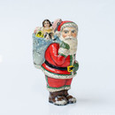 American Santa With Tree Decorated Bag