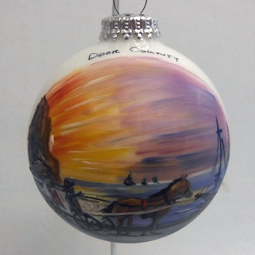 Ephraim Carriage Ride Ball Ornament & Tannenbaum Holiday Shop » Christmas » Door County Ornaments and Gifts