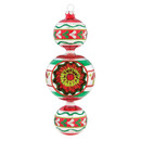 Trio Drop Ornament Red/green/gold