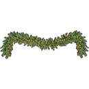 9' Pre-Lit Sequoia Garland, 120 LED Warm White Lights