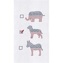 Dog Political Party Flour Sack Towel