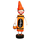 Orange Crayon Figurine