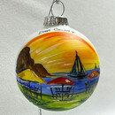 Fred & Fuzzy's Glass Ball Ornament
