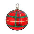 Large Red Plaid Ball