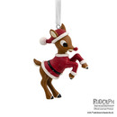Rudolph The Red-nosed Reindeer In Santa Suit Christmas Ornament