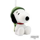 Peanuts Snoopy In Stocking Cap Decoupage Christmas Ornament