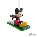 Mickey Mouse On Sled Ornament