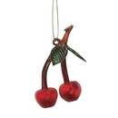 Glass Cherry Ornament