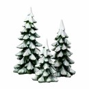 Village Accessories- Winter Pines Set Of 3