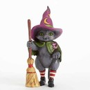 Jim Shore Witch Cat With Broom