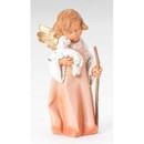 8'' Woodtone Angel With Lamb
