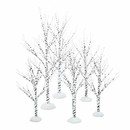 Village Accessory- Winter Birch Set Of 6