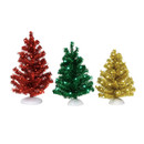 Village Accessories - Magical Tinsel Tree (set Of 3)