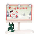 Village Accessories - Merry Christmas Billboard