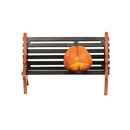 Halloween Village - Haunted Pumpkin Bench