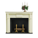 Fireplace with Candleabra
