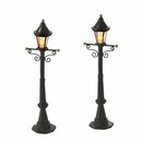 Village Accessories- Uptown Street Lights Set Of 2